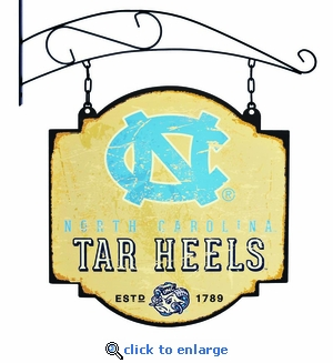 North Carolina Tar Heels 16 X 16 Metal Tavern / Pub Sign