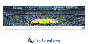 North Carolina Tar Heels Basketball - Panoramic Photo (13.5 x 40)