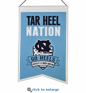 North Carolina Tar Heels Nations Wool Banner (14 x 22)