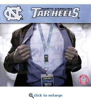 North Carolina Tarheels NCAA Lanyard Key Chain and Ticket Holder - Light Blue
