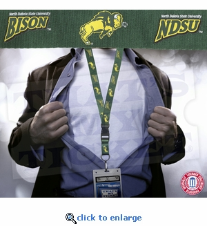 North Dakota State University Bison NCAA Lanyard Key Chain and Ticket Holder