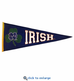 Notre Dame Fighting Irish Clover Leaf Wool Pennant (13 X 32)
