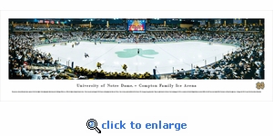 Notre Dame Fighting Irish Hockey - Panoramic Photo (13.5 x 40)
