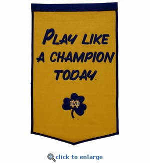 Notre Dame Fighting Irish National Champions Dynasty Wool Banner (24 X 36)