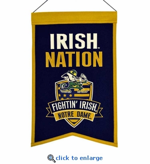 Notre Dame Fighting Irish Nations Wool Banner (14 x 22)