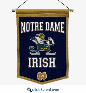 Notre Dame Fighting Irish Traditions Wool Banner (12 x 18)