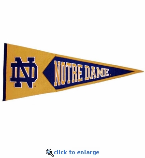 Notre Dame Fighting Irish Traditions Wool Pennant (13 X 32)