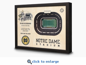 Notre Dame Stadium 3-D Wall Art - Notre Dame Fighting Irish Football