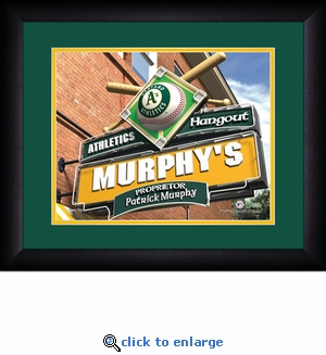 Oakland A's Personalized Sports Room / Pub Print