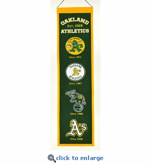 Oakland Athletics Heritage Wool Banner (8 x 32)