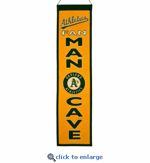 Oakland Athletics Man Cave Wool Banner (8 x 32)