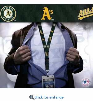 Oakland Athletics MLB Lanyard Key Chain and Ticket Holder