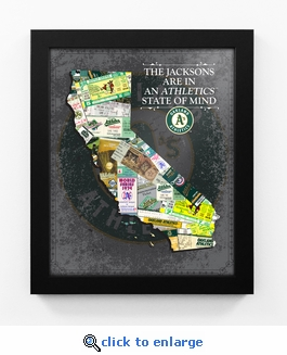 Oakland Athletics Personalized State of Mind Framed Print - California