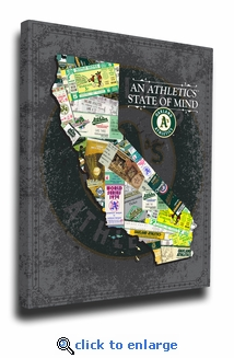 Oakland Athletics State of Mind Canvas Print - California