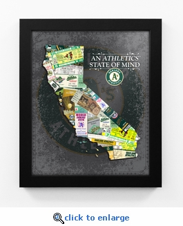 Oakland Athletics State of Mind Framed Print - California