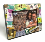 Oakland Athletics Ticket Collage Black Wood Edge 4x6 inch Picture Frame