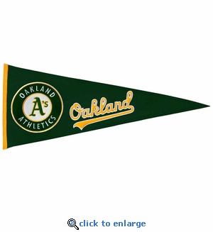 Oakland Athletics Traditions Wool Pennant (13 x 32)