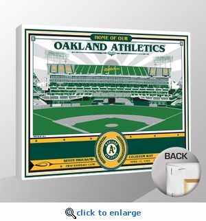 Oakland Coliseum Sports Propaganda Canvas Print - A's