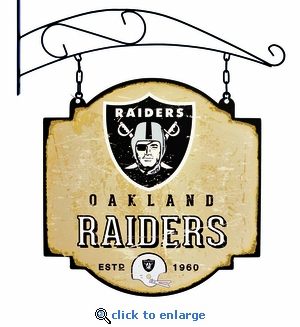 Oakland Raiders 16 X 16 Metal Tavern / Pub Sign