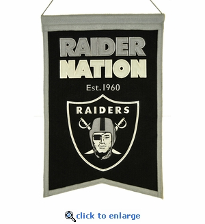 Oakland Raiders Franchise Wool Banner (14 x 22)
