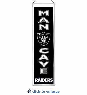 Oakland Raiders Man Cave Wool Banner (8 x 32)