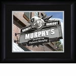 Oakland Raiders Personalized Sports Room / Pub Print