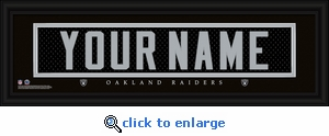 Oakland Raiders Personalized Stitched Jersey Nameplate Framed Print