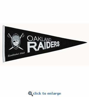Oakland Raiders Throwback Wool Pennant (13 x 32)