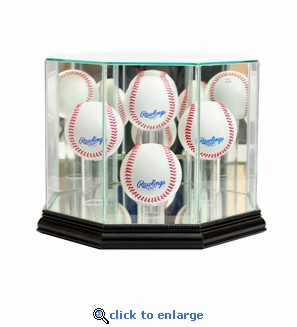 Octagon 4 Baseball Display Case - Black