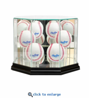 Octagon 6 Baseball Display Case - Black