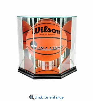 Octagon Basketball Display Case - Black