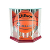 Octagon Basketball Display Case - Cherry