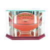 Octagon Football Display Case - Cherry