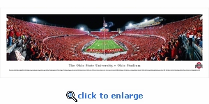Ohio State Buckeyes Football - End Zone - Panoramic Photo (13.5 x 40)