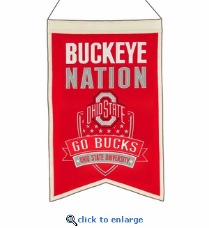 Ohio State Buckeyes Nations Wool Banner (14 x 22)