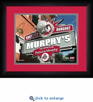 Ohio State Buckeyes Personalized Sports Room / Pub Print