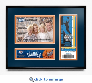 Oklahoma City Thunder 5x7 Photo Ticket Frame