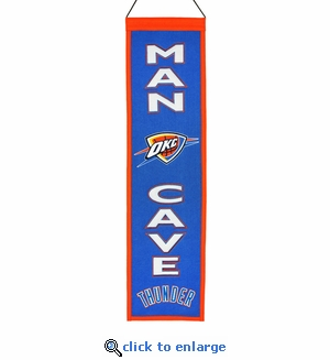 Oklahoma City Thunder Man Cave Wool Banner (8 x 32)