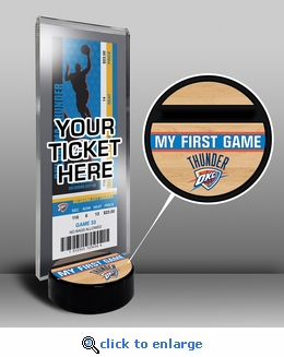 Oklahoma City Thunder My First Game Ticket Display Stand