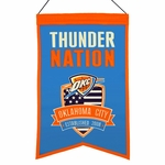 Oklahoma City Thunder Nations Wool Banner (14 x 22)
