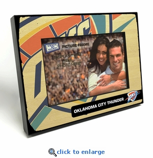 Oklahoma City Thunder Black Wood Edge 4x6 inch Picture Frame