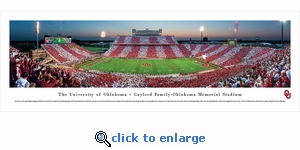 Oklahoma Sooners Football - 50 Yard Line - Panoramic Photo (13.5 x 40)