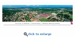 Oklahoma Sooners Football - Aerial - Panoramic Photo (13.5 x 40)