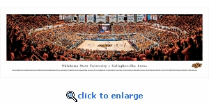 Oklahoma State Cowboys Basketball - Panoramic Photo (13.5 x 40)