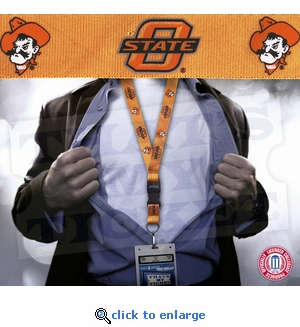 Oklahoma State Cowboys NCAA Lanyard Key Chain and Ticket Holder