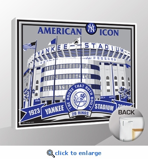 Old Yankee Stadium Sports Propaganda Canvas Print - Yankees