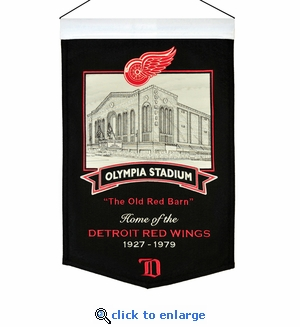 Olympia Stadium Wool Banner (20 x 15) - Detroit Red Wings