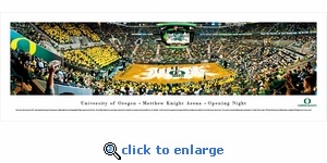 Oregon Ducks Basketball - Matt Arena - Panoramic Photo (13.5 x 40)
