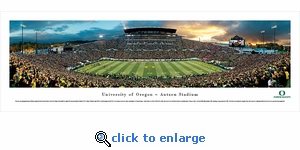 Oregon Ducks Football - Panoramic Photo (13.5 x 40)