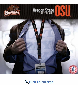 Oregon State Beavers NCAA Lanyard Key Chain and Ticket Holder